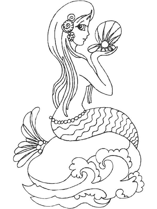 Mermaid (7) coloring page