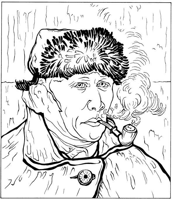 Autoportrait avec connexion Coloriage 1889