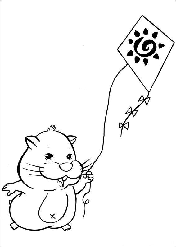 Zhu Zhu Pets (8) målarbok