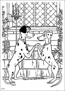 kleurplaat 101 Dalmatiers (16)