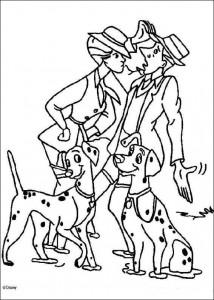 раскраска 101 Далматинец (18)