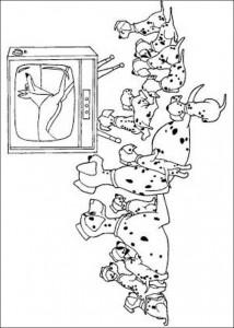 kleurplaat 101 Dalmatiers (19)