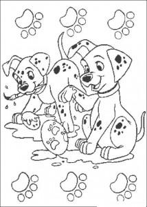 kleurplaat 101 Dalmatiers (21)