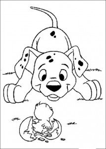 kleurplaat 101 Dalmatiers (25)