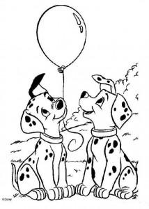 kleurplaat 101 Dalmatiers (34)