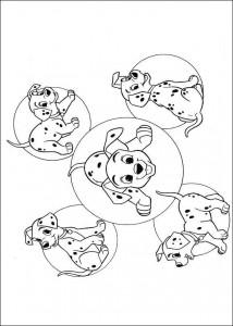 kleurplaat 101 Dalmatiers (48)