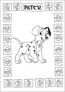 kleurplaat 101 Dalmatiers (59)