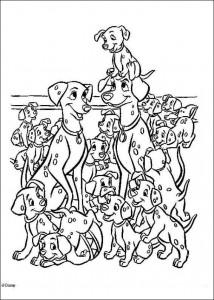 kleurplaat 101 Dalmatiers (8)