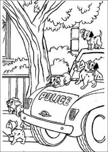 coloring page 101 Dalmatianer