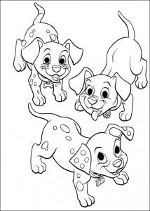 kleurplaat 102 Dalmatiers (6)