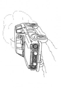 coloring page 4x4 SUV