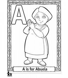 kleurplaat A Abuela
