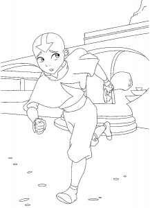 coloring page Aang (1)