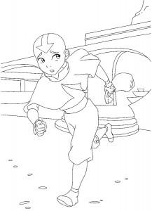 kleurplaat Aang (1)