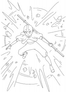 coloring page Aang (2)