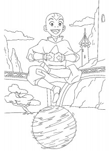 coloring page Aang (3)