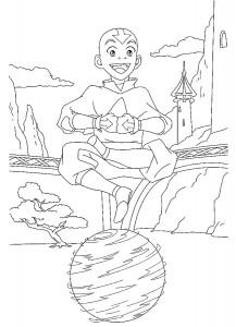 kleurplaat Aang (3)