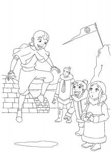 målarbok Aang är galen
