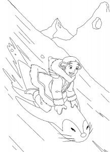 målarbok Aang och Unagi