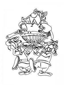 kleurplaat Abraracourcix, het stamhoofd