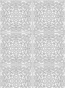 Coloring page Abstract for adults (7)