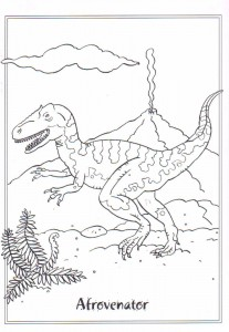 coloring page Afrovenator
