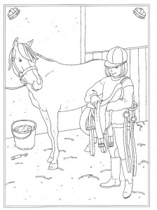 coloring page Saddling