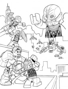 Coloring page Age of Ultron