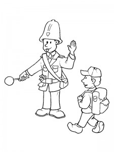 Agent coloring page