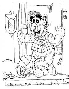 coloring page Alf (2)