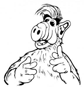 раскраска Alf (3)