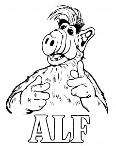 раскраска Alf (5)