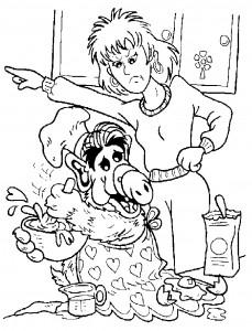 målarbok Alf bakning