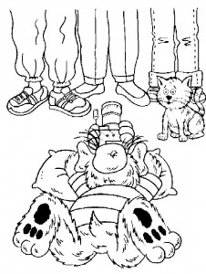 coloring page Alf makes family portrait