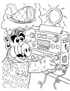 coloring page Alf