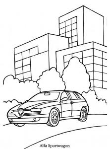 boyama sayfası alfa romeo spor araba