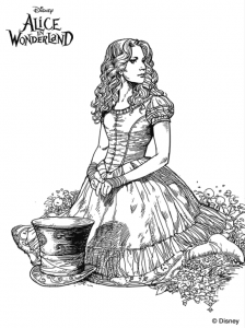 coloriage alice