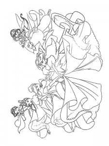 coloring page Alle Disney-prinsesser (2)
