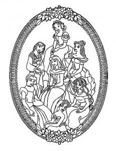 målarbok Alla Disney-prinsessor (3)
