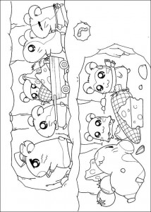 coloring page All Ham-Hams