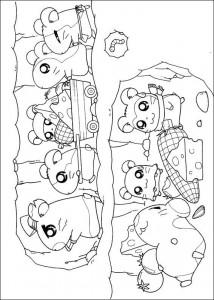 målarbok Alla Ham-Hams
