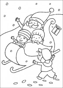 coloring page All in the sled