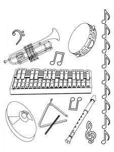 målarbok Alla typer av musikinstrument