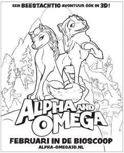 kleurplaat Alpha en Omega (1)