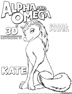 coloring page Alpha and Omega - Kate