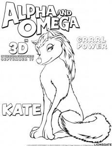 kleurplaat Alpha en Omega - Kate