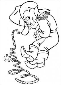 kleurplaat Alvin als cowboy