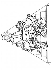 kleurplaat Alvin en de Chipmunks (19)