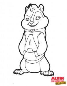 раскраска Alvin and Chipmunks Road Chip (2)