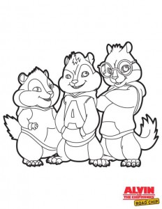coloring page Alvin and the Chipmunks Road Chip (3)